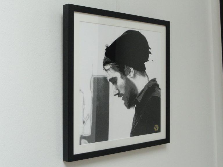 David 46x46 FineArt-Druck auf Künstlerpapier, Passepartout, Echtholzrahmen